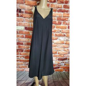 EUC Veda 100% Silk Medium Black Dress